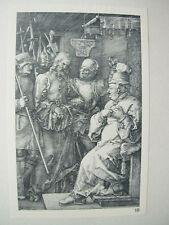 Albrecht DURER VINTAGE INCISIONE SU RAME PRIMA DI CRISTO caiaphus-PASSIONE N. 4