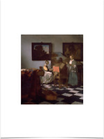 JOHANNES VERMEER THE CONCERT BIG BORDERS LUXURY LIMITED EDITION ART PRINT 18X24