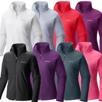 """New Womens Columbia """"Fleece Falls II"""" Full Zip Fleece Sweaters Jacket"""