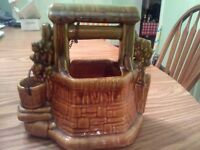 Rare Vintage McCoy Oh Wishing Well Planter - Free Shipping -Great Condition.