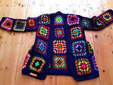 LUNiQUE handmade Crochet Traditional Granny Square Cardigan Multi🌼