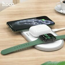 HOCO Wireless Charger Stand 3 in1 Charging Dock for Apple Watch Fast Charging