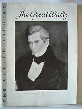 THE GREAT WALTZ Playbill GUY ROTERTSON / MARION CLAIRE / MARIE BURKE NYC 1935