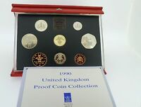 1990 Royal Mint Deluxe Proof Set Red Leather