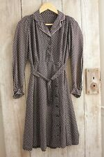 Vintage French black polka dot dress 40's 50's woman's clothing