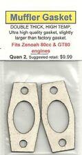Zenoah 80cc & GT80, HIGH TEMP, DOUBLE THICK, Exhaust/Muffler Gasket 2 Pack NIP