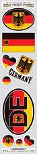 Germany 9 stickers set German flag decals bumper stiker car auto bike laptop