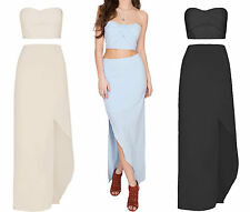 Chiffon Patternless Maxi Dresses for Women