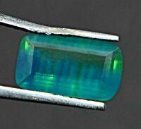 1.45 Ct Natural Bi-Color Sapphire Certified Cushion Sparkling Tanzania Gemstone