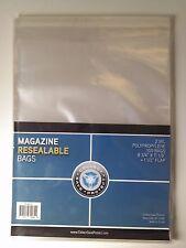 "CSP Resealable Magazine Bags Protector 100ct NIP 8 3/4""x11 1/8"" w/ 1 1/2"" flap"