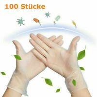 100X PVC Latexhandschuhe Premium Puderfrei Einmalhandschuhe Einweghandschuhe