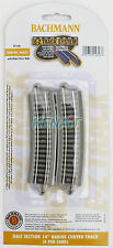 "Bachmann N Scale E-Z System Half Section 14"" Radius Curved Track x6 #44823"