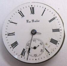 Movement & Dial 11j 0s * Antique Small La Salle Pocket Watch