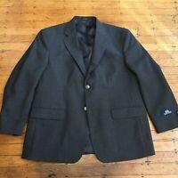 NWT Stafford Hopsack Blazer Men's 44 Short Gray 55% Polyester 45% Wool MSRP $160
