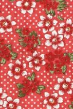 Troy Riverwoods Three French Hens 1751 01 Cherry Floral   Cotton Fabric BTY