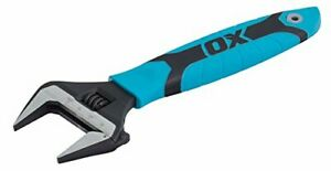 OX OX-P324608 Pro Extra Wide Jaw Adjustable Wrench - Adjustable Plumbing Spanner