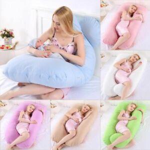 Women's Pregnancy Pillow U-Shape Cushion PP Bedding Long Side Sleeping Maternity