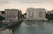 12304/ Foto AK, Königsberg Partie am Schloßteich und Schloßteich-Brücke, 1908