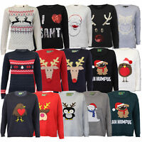 Ladies Christmas Jumpers Brave Soul Xmas Womens Novelty Robin Penguin Pom Winter