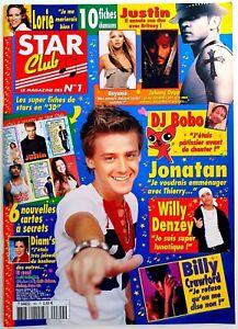 STAR CLUB N°190 (09/2003) : FICHES + CARTES + POSTER JONATAN / LORIE [TTBE]
