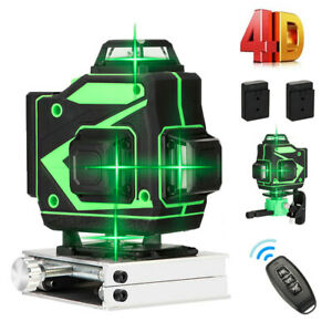 360 Degree 16 Lines 4D Green Laser Level Tool fr Construction Self Leveling T2I0