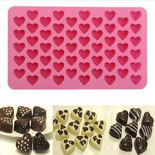 Silikon 55 Herz Kuchen Schokoladen Plätzchen Backen Eiswürfel Seifen Form Tablet