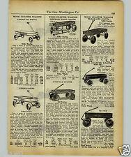 1927 PAPER AD Sherwood Spring Coaster Wagon Janesville Ben Hur Kiddie Koaster