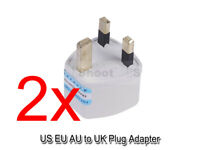 2 US EU AU Australia to UK United Kingdom AC Power Plug Adapter Travel Converter