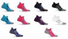 10x Pairs M Feetures Elite Max Cushion No Show Tab PINK BLUE CORAL PURPLE socks