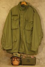 Vietnam War M-65 Cold Weather Coat Med-Long, Hat, Goggles, First Aid Box, Named