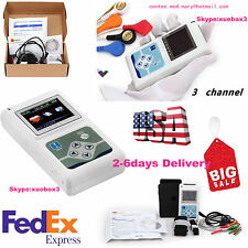 ECG/EKG Holter System 3 Channel 24 Hours Recorder Monitor US+Software TLC5007