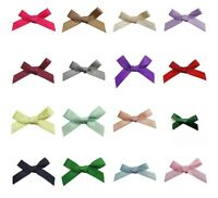 Pack of 20 - Small Ready Made 3cm / 7mm SATIN RIBBON CRAFT BOWS - 20 Colours