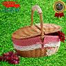 Hot Handmade camping basket Picnic basket for wooden storage Color Wicker