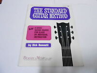 1965 (NOS) THE STANDARD GUITAR METHOD vintage music song book
