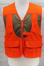 Blaze Orange Utility Hunting Vest Zip Front & Expandable Mens M Master Sportsman
