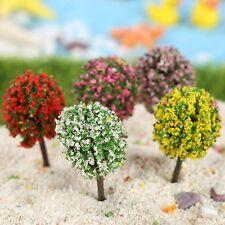 5 x Mini Colorful Tree Plant Fairy Dollhouse Garden Ornament Miniature Landscape