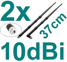 2x Stück 10dBi Router Antenne Wlan Asus router Fritz!Box WiFi Stab Knick RP-SMA