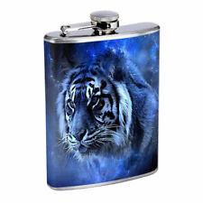 Blue Tiger Em2 Flask 8oz Stainless Steel Hip Drinking Whiskey