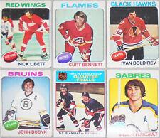 1975-76 -Topps- Vintage NHL Hockey Cards - You Pick/Choose - Finish Your Set!