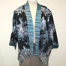 NEW Dressori Plus Size Handkerchief Hem Shawl Collar Pleated Jacket Top 3X