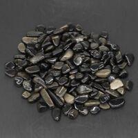 Natural Gold Obsidian Reiki Healing Polished Tumbled Gravel Stones Minerals