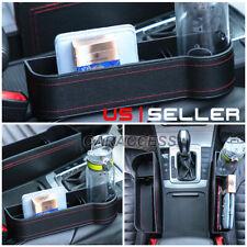 Auto Car Seat Gap Catcher Storage Pu Box Organizer Cup Crevice Pocket Stowing