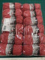 12 x king Cole Opium 1809 chorizo pink 100g balls cotton blend
