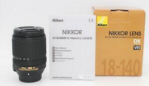 NIKON AF-S DX NIKKOR 18-140mm f/3.5-5.6G ED VR Lens.  2 YEARS WARRANTY