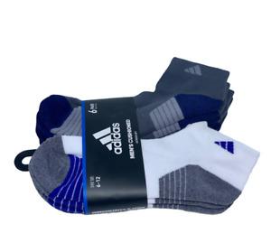 Adidas Men's Cushioned 6 pairs Shoe Size 6-12 White & Gray