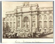 Italie, Rome, Fontaine de Trevi  Vintage albumen print. Roma  Tirage albuminé