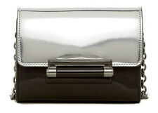 Diane Von Furstenberg DVF Silver Metallic Mirror 440 Micro Mini Crossbody Bag
