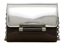 Diane Von Furstenberg DVF Silver Metallic Mirror 440 Micro Mini Crossbody Bag
