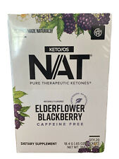 New Box 20 Count Pruvit NAT/PRO Ketones Elderberry BlackBerry Caff Free