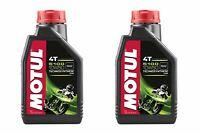 2 Bottles Motul 5100 4T 10W50 Motorcycle Oil 1 Liter 104074